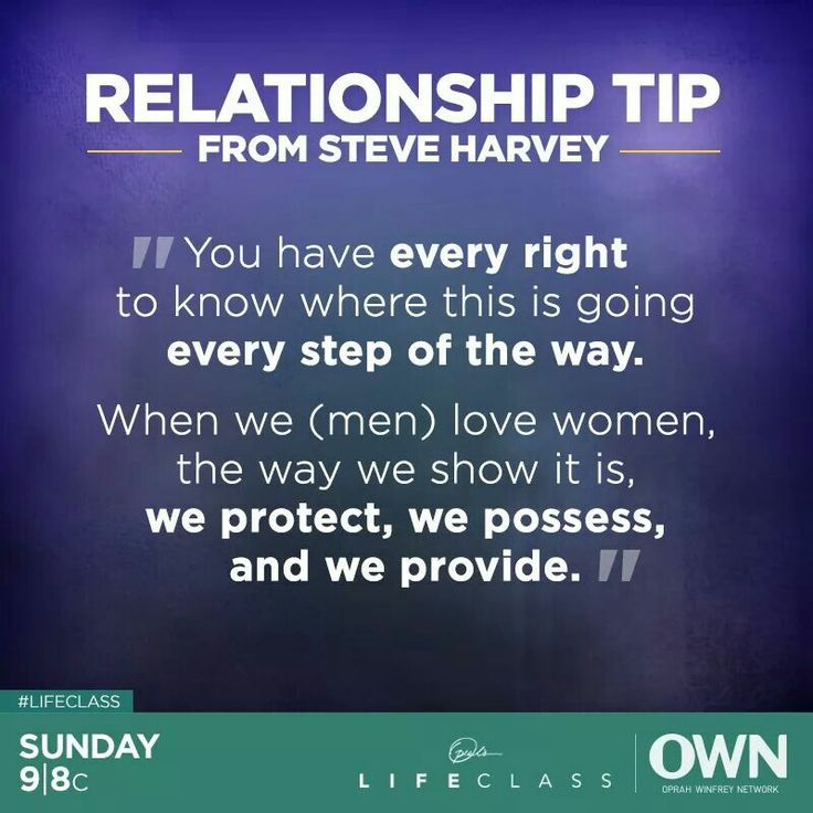 Steve Harvey: We (men) love women, the way we show it is, we protect,  we possess,  and we provide.