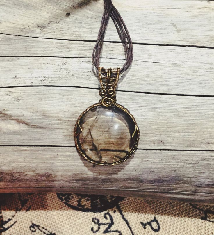 Smoky Quartz Crystal Wire Wrap Pendant ** Clear your negative energies & thoughts** by EarthMamasCrystals on Etsy