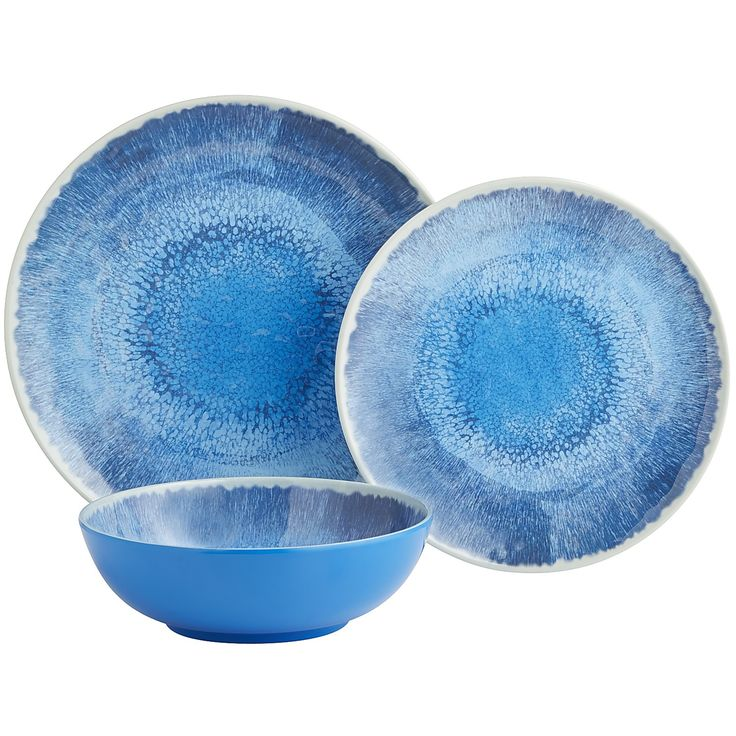 Leaf Glass Salad Plate Melamine Dinnerware Blue And