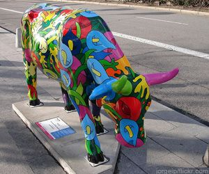These were fun. Chicago Cows On Parade. Oh, the miles we clocked walking the city to see the cows.