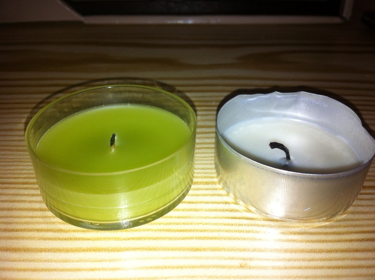 """PartyLite® vs. """"cheapo"""" ... After lighting both tealights at the same time, you can clearly see that the PartyLite® tealight lasts longer (the cheapo is done), is a better quality of a burn, and look at the wick! Not to mention the quality of the light being nice & bright is much better too! Your PartyLite candles are awaiting ... http://www.partylite.biz/legacy/sites/nikkihendrix/productcatalog?page=productgroup&productGroupId=20050&categoryId=57706&showCrumbs=true"""