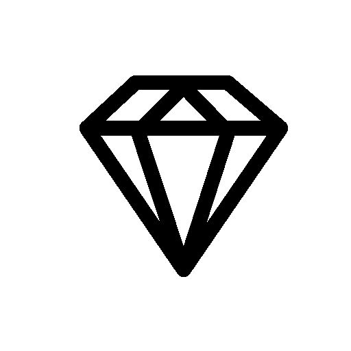Diamond outline free icon