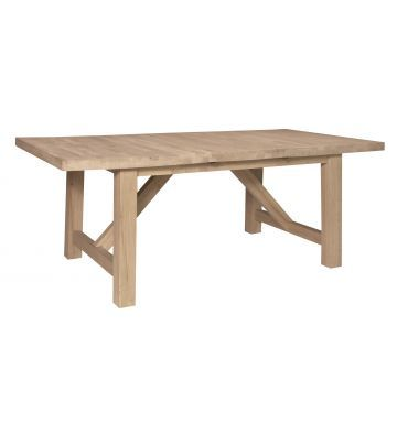 Start Shopping For Our Canyon Hardwood Extension Table. Our New Canyon  Unfinished Hardwood Extension Table Is Perfect For Families Of All Sizes.