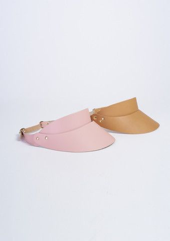 caramel leather visor larissahadjio.com