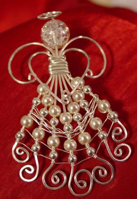 Bead and wire angel