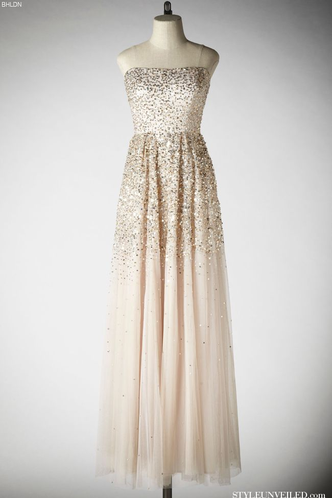 Wedding Dresses: BHLDN Wedding Spring 2013 - Pink Champagne dress is the prefect way to add a little sparkle and pink to your wedding.