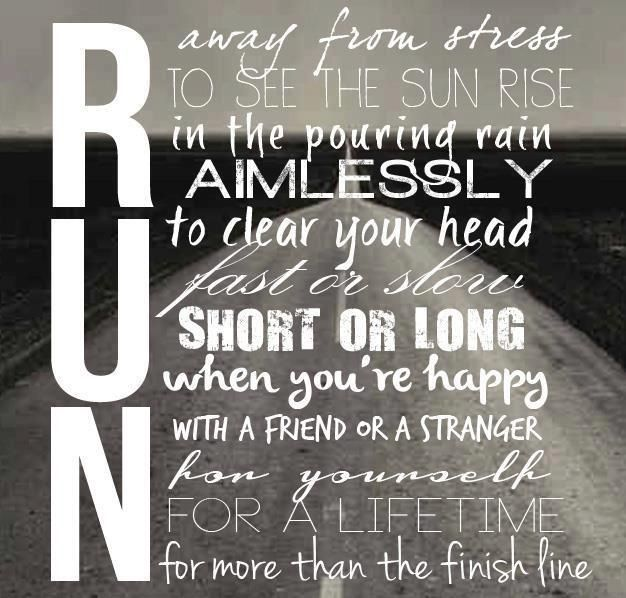 Run! For more than the finish line.