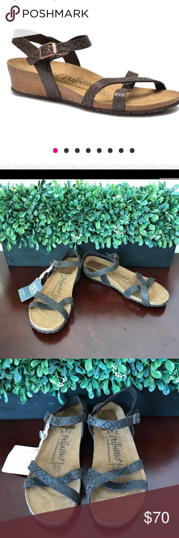 Birkenstock Papillio Wedge Sandal ✨ Birkenstock Papillio Alyssa Wedge Sandal in mocha brown with snake like print. Size 37. New with tags. Birkenstock Shoes Sandals