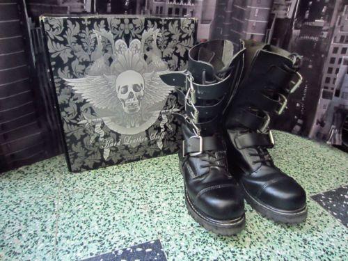 Bottes-Goth-Metal-Hard-Leather-Stuff-Pointure-44