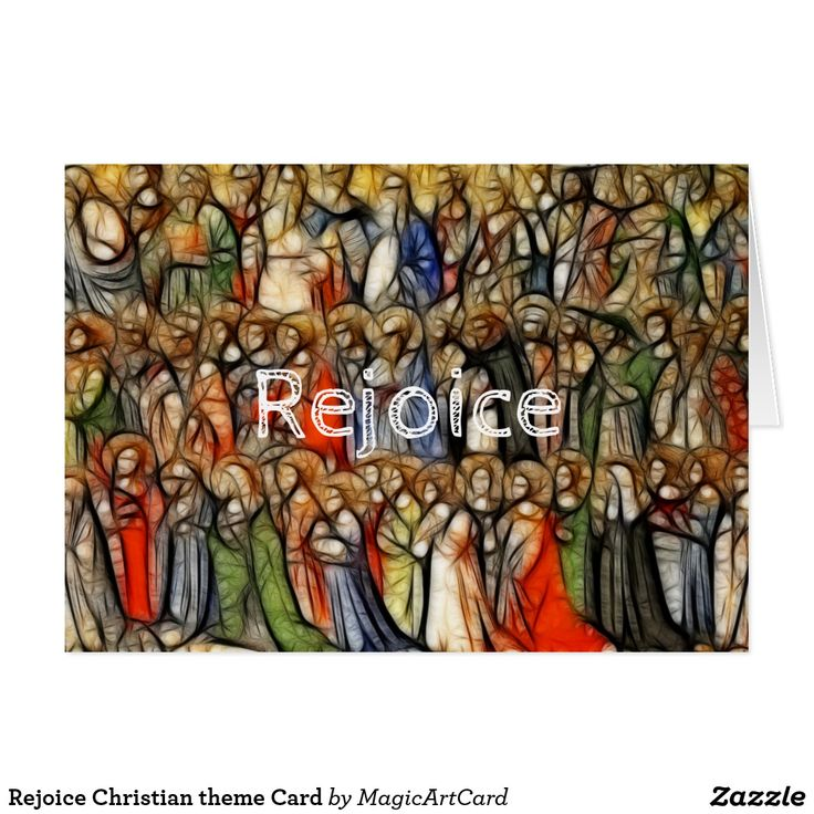 Rejoice Christian theme Card