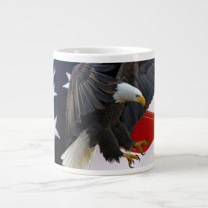 Patriotic American Flag Eagle 4 Big Coffee Mugs - decor gifts diy home & living cyo giftidea