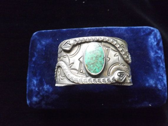 VERY RARE NAVAJO coin silver ingot rattle snakes by yankeepickers