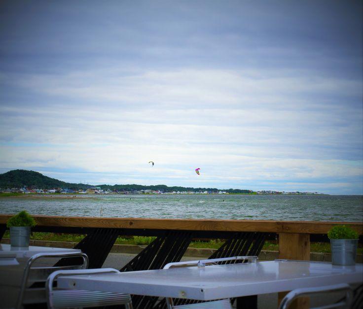 Kitesurf à Sainte-Anne-des-Monts en Haute-Gaspésie