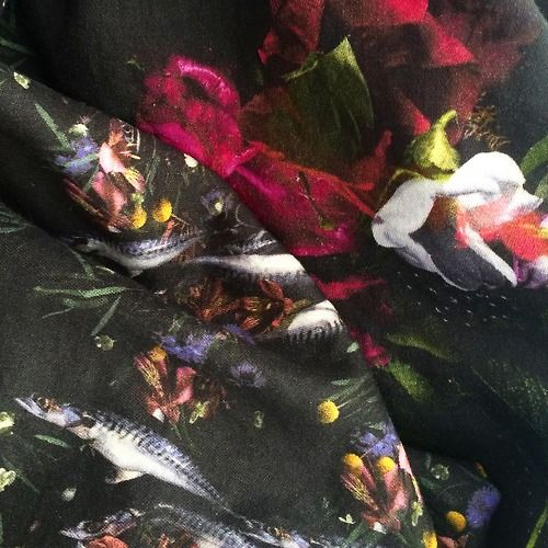 A little sneaky peek at some of the new prints by the lovely Susan Castillo who is launching her next collection of designs in August. #Fish...