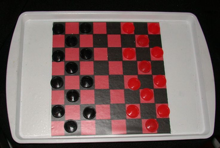2 Games Magnetic Checker on Metal Board with Maze On Back:  to disciplined the mind by TryYourSkills on Etsy