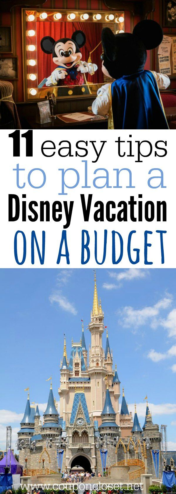 Heading to Disney? Plan a Disney Vacation on a Budget with these easy tips. These tips on planning a Disney vacation will help you save money and time!