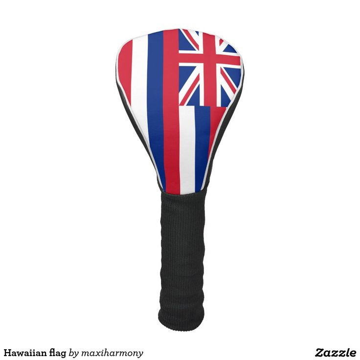 Hawaiian flag golf head cover