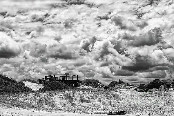#Cloudy #Beach #Black_and_White by #Kaye_Menner #Photography Quality Prints Products at: http://kaye-menner.pixels.com/featured/cloudy-beach-black-and-white-by-kaye-menner-kaye-menner.html