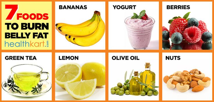 7 Foods To Burn Belly Fat