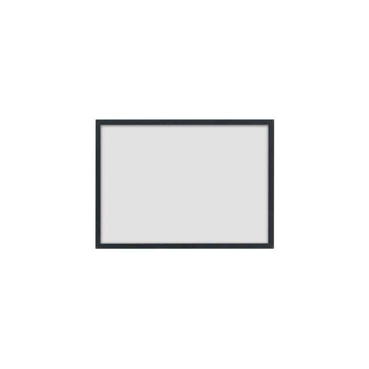 Wissellijst maat 148x215 mm (A5, ansichtkaart) van zwart metaal van By Lassen. Illustrate lijkt te zweven tegen de muur.