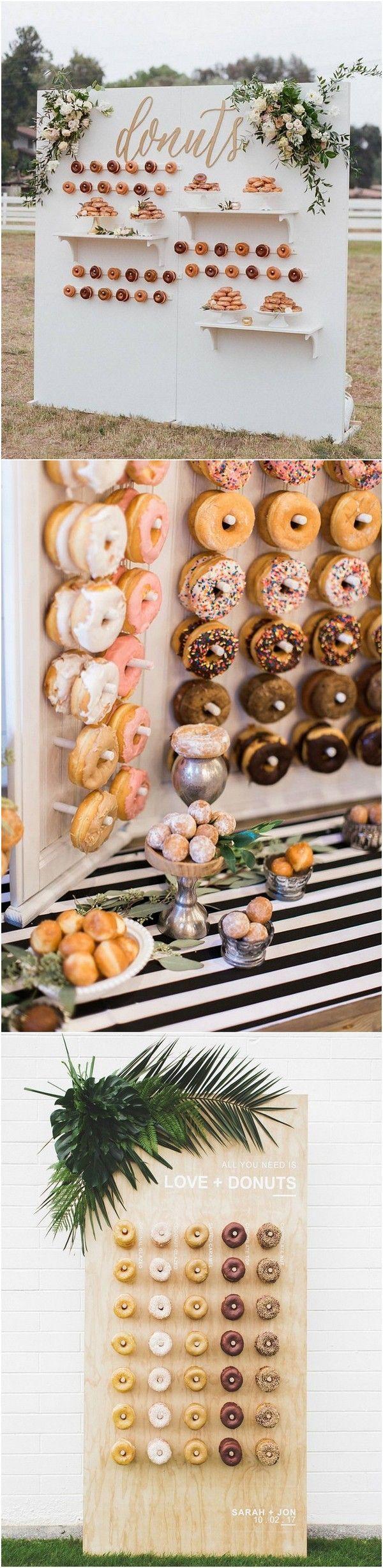 chic outdoor wedding donut wall backdrop ideas