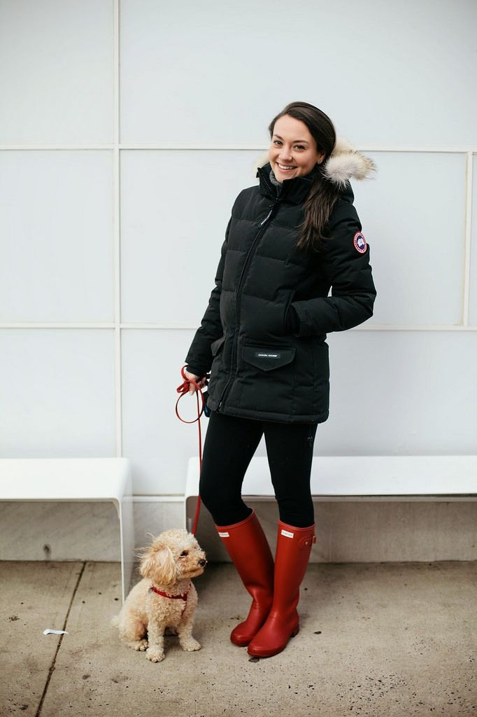 Two of my favourite things .Hunter boots and Canada Goose jacket <3