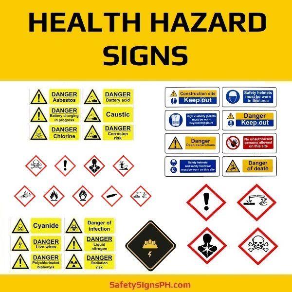 Health Hazard Signs Philippines Hazard Sign Signs Hazard