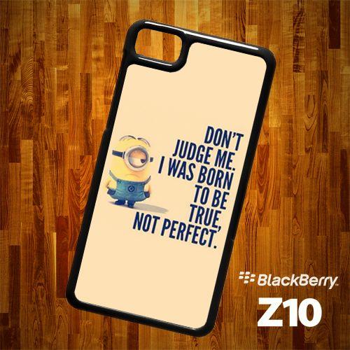 B1303 Despicable Me Minion with quote Blackberry Z10 Case | statusisasi - Accessories on ArtFire