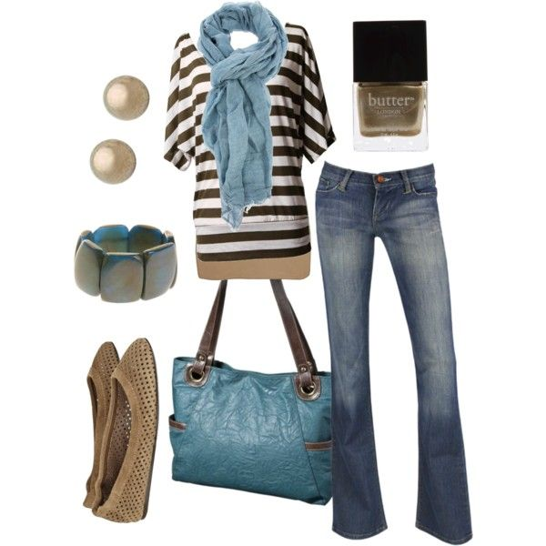 Love the light blue.....very inexpensive oufit except for the shoes:)