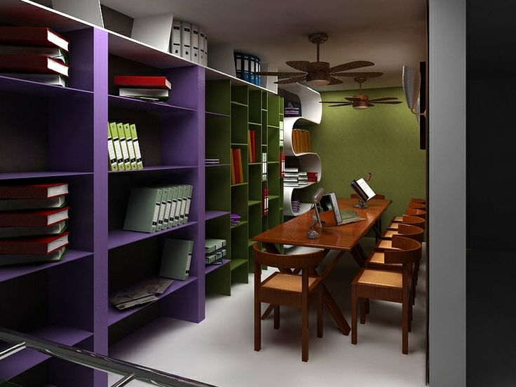 Library Interior Design : Stunning Bookcase Design Ideas  Click this link to view more details - http://Interiors.ApnaGhar.co.in/  Questions? Call Toll-Free No.- 1800-102-9440 Email: support@apnaghar.co.in