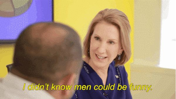 And answered the age old question… are men funny? | If Men Were Treated Like Women In The Workplace With Carly Fiorina