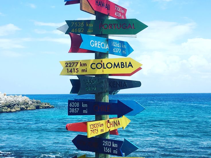 Travel signs - Cancun Mexico