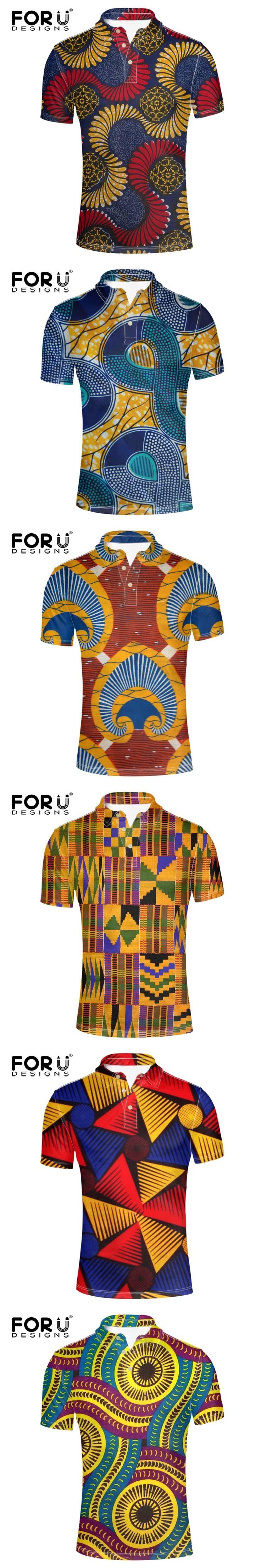 FORUDESIGNS Fashion summer mens polo shirt brands african print polos men British style polo shirts casual Short sleeve polo men