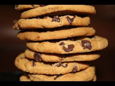 Recept na chip cookies/sušenky s kousky čokolády - YouTube
