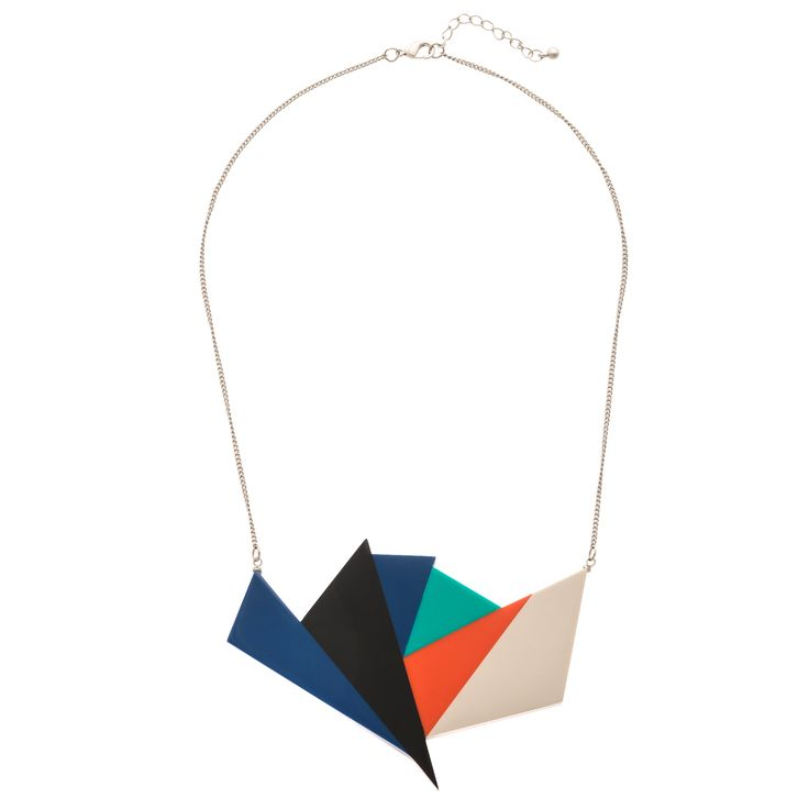 Featuring an edgy geometric shape on a silver chain, this necklace gives a subtle nod to the '80s mix. A quirky gift for her!