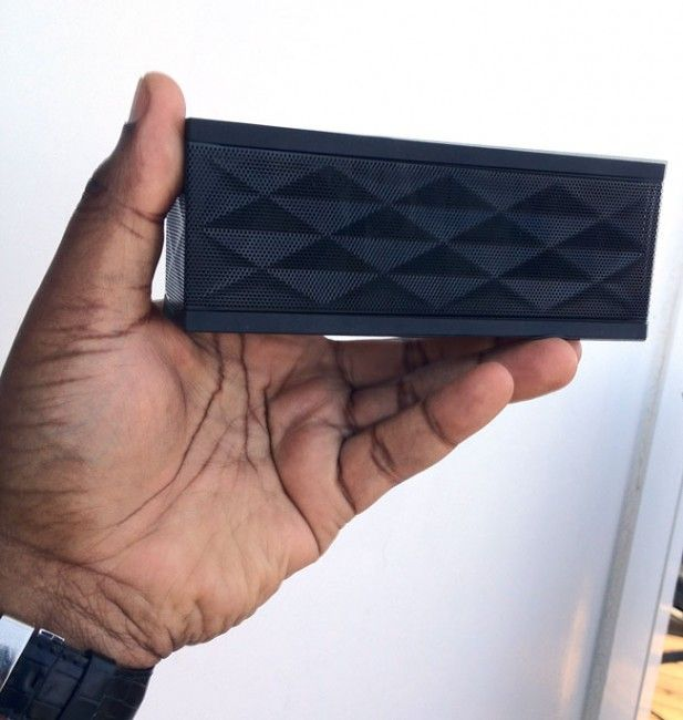 The Jambox is now my favorite travel speaker. Bluetooth connectivity and small compact size! $179.99