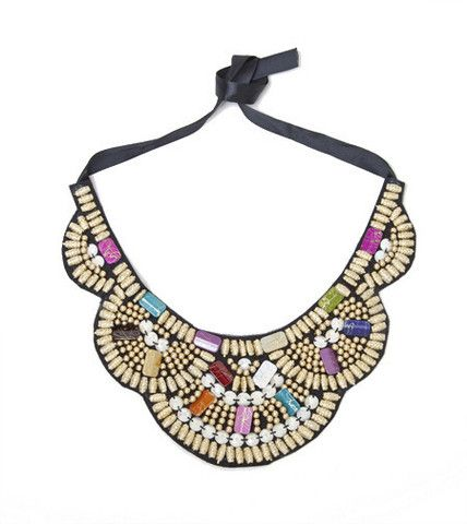 Multi Aztec Ribbon Statement Necklace | Fashion Necklace | HOTTT.COM