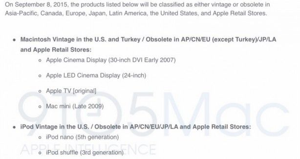 Prodotti vintage e obsoleti: Apple abbandonerà presto il supporto per Apple TV iPod e Cinema Display