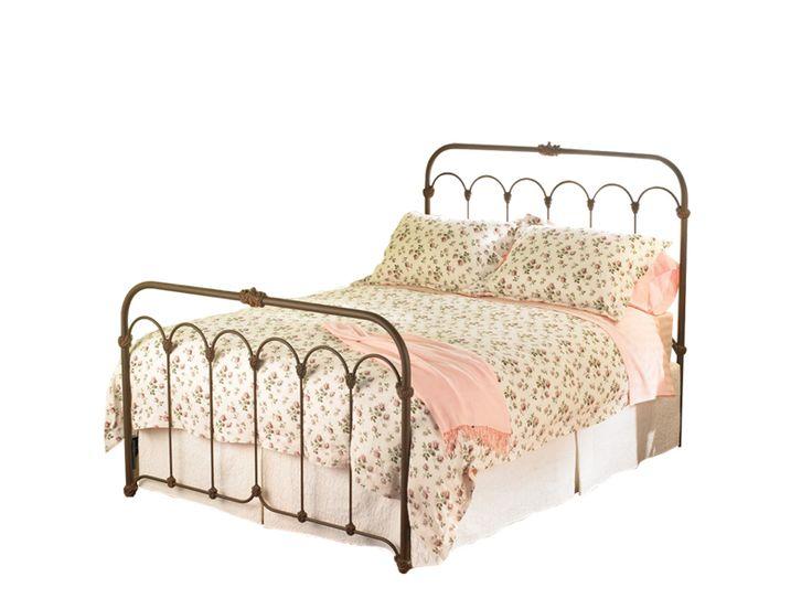 Wesley Allen Hillsboro Iron Bed Frame #bedroomsandmore #bedroom #bedframe #interiordesign