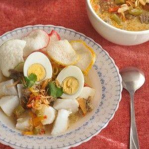 Ketupat Sayur, Jakarta - Indonesian Meat Soup with Rice Cake