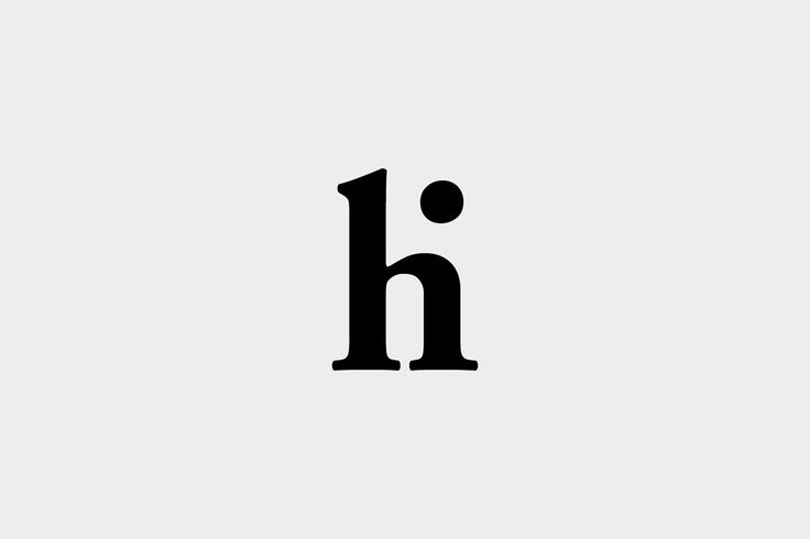 I Love Ligatures - hi by @wearefounded #logo