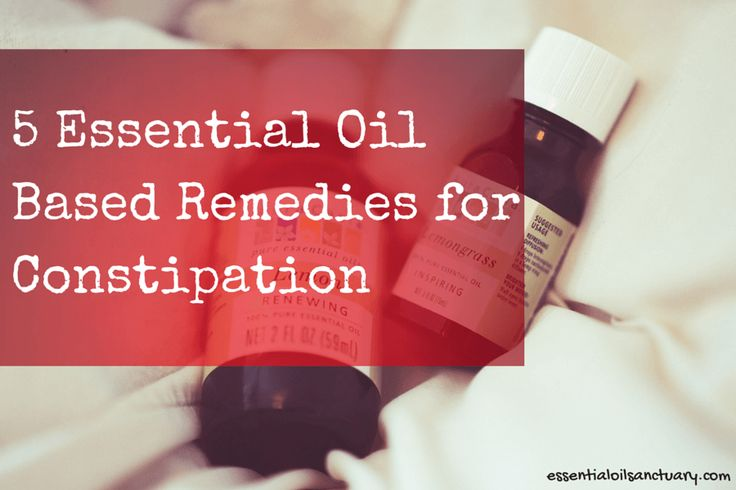 Constipation can be a pain in the... You know..  It makes you feel cramped up - emotionally and physically - and if unaddressed can potentially lead you to develop some serious health conditions.  Luckily there are some easily acquired constipation remedies - essential oils being one of them