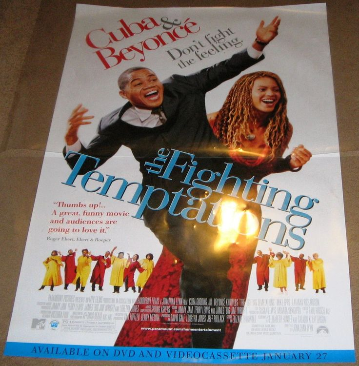 The Fighting Temptations 2003 Movie Poster 27x40 Used Beyonce Knowles, Steve Harvey, Jimmy Carter, Cuba Gooding Jr