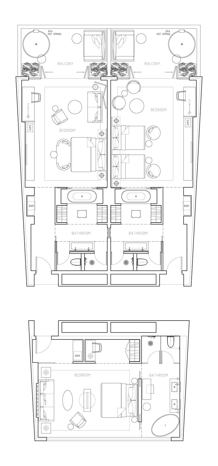 best 10 hotel floor plan ideas on pinterest master bedroom the plan high standardf hotel room inspiration for villas in the middle east by si architects