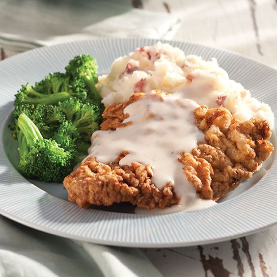 This delicious Chicken-Fried Steak with Milk Gravy is great with a side of buttery mashed potatoes.    Save Recipe Print  Chicken-Fried Steak with Milk Gravy