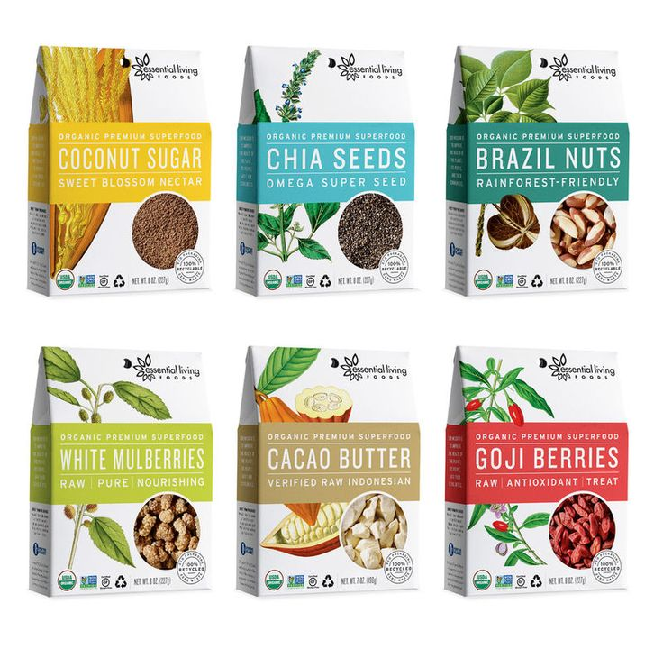 Essential Living Foods' Healthy Food Packaging Highlights Nature's Best #marketing trendhunter.com