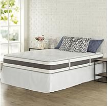Night Therapy Set Spring 10 Inch Fusion Gel Memory Foam Hybrid Mattress and SmartBase Bed Frame - Queen