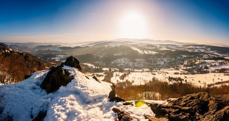 Amazing landscape in winter