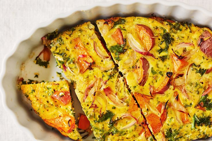 Spicy Kale and Sweet Potato Egg Bake