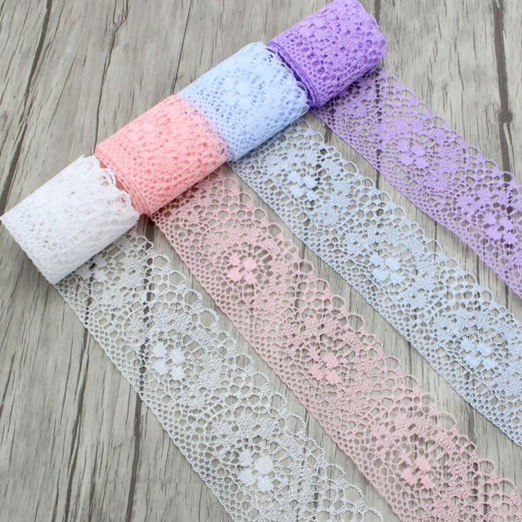 10y/lot lebar 4 cm Kain Renda Pita DIY Bordir Net Lace Potong Untuk Jahit Dekorasi 050025080